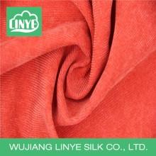 Tissu en microfibre teint en fil de velours côtelé, tissu de coussin de canapé, tissu d'ameublement rayé