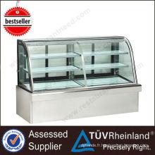 Refroidisseur d'affichage de gâteau réfrigéré de l'équipement R134a de cuisine de haute qualité