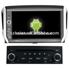 Quad core car dvd player with gps navigation for Peugeot 208,BT,AIRPLAY,MIRROR-CAST,DVR,Games,Dual Zone,Steering Wheel Control