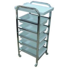 Salon Trolley with Nice Style, Plating Shelf and Salver