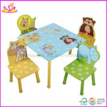 Bureau et chaise d'enfants avec la conception animale (WO8G088)