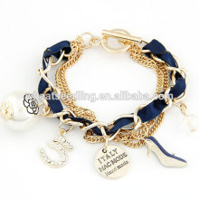 All match ladies multielement pendent layered palestine gaza bracelet
