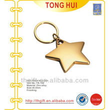 Golden 3D Star shape keychains metal