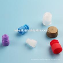 Tapón de plástico de 13 mm para tubos de ensayo.