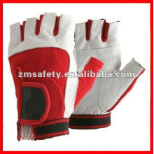 Red color custom weight lifting gym glove