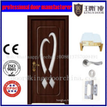 Porte en bois de style de porte de PVC MDF