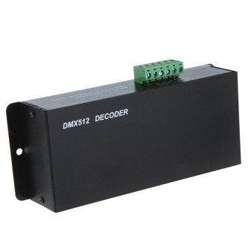 3 channels DIP switch rgb decoder /rgb led dmx512 controller with screw terminal