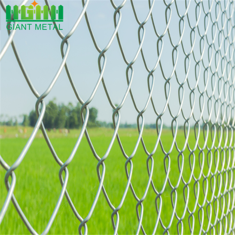 Galvanized Diamond Wire Mesh Digunakan Chain Link Fence