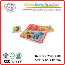 2015 good wood & wooden number puzzle toys