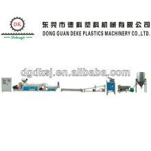 Residuos HDPE LDPE línea extrusora de plástico DKSJ-140A / 125