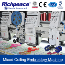Computerized Mixed Coiling Embroidery Machine with Cording Frill Sequin Cording Device