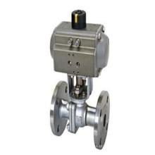 Válvula de flange do atuador pneumático da carcaça de investimento (fazer à máquina)