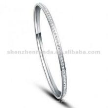 Atacado Mulheres Bangles baratos pulseira de moda de aço inoxidável jóias