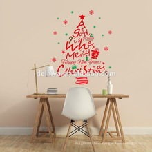 Hot sell Merry Christmas waterproof window sticker, wall sticker