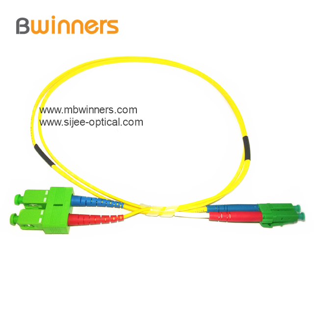 Sc Apc Lc Apc Duplex Sm Fiber Optic Patch Cord