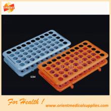 Rak tiub plastik untuk kegunaan makmal