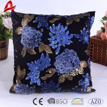Vente chaude paillettes élégantes conception usage domestique coussin décoratif, coussin de canapé