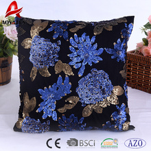 Hot sale elegant sequins design home use decorative cushion, sofa cushion