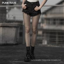 OPK-315 lace stitching denim shorts women hot pant
