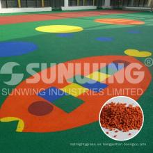 surtidor de china coloreó los gránulos epdm reciclados para el jardín de la infancia