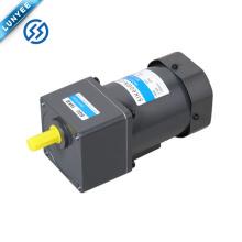 Motor eléctrico pequeño del engranaje de la CA 60w 1ph 3ph 100 ~ 220v con la caja de engranajes
