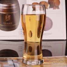 Glasbecher für Bier Trinkglas Tasse Wasser mit Griff