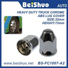 Truck Accessory Chrome Plastic Hex Spike Nut Cover - Push on