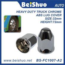 Acessório do caminhão Chrome plástico Hex tampa da porca Spike - Push on
