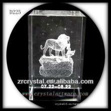 K9 3D Laser Subsurface Leo dentro de Crystal Rectangle