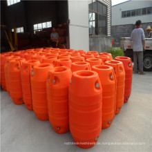 Hochtemperatur DN50 HDPE, das Floater für HDPE-Rohr ausbaggert