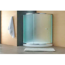 8mm 10mm Frosted Tempered Glass, Light Green Light Blue Acid Etched Glass Shower Screens