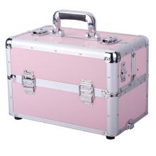 3 en 1 sac à dos en aluminium pour maquillage roulant Salon Coffre à cosmétiques Organisateur Trolley Train Case