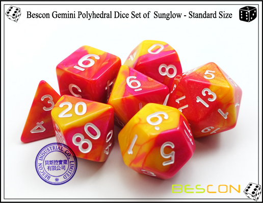 Bescon Gemini Dice Set of Sunglow-4