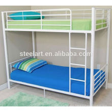 2017 hot selling metal material kids bunk bed with mattress