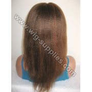 Chinese Human Hair Lady Wig Highlight with baby hair all around