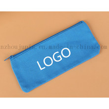 OEM Logo Stationery Zipper Canvas Pencil Case for Promotional Gift