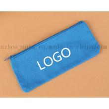 Caixa de lápis da lona do zíper dos artigos de papelaria do logotipo do OEM para o presente relativo à promoção
