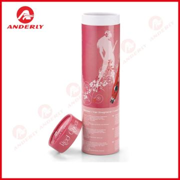 Hair Curler Packaging Paper Canister Rigid Paper Tube