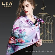 Multicolour 100% Silk Stain Luxury Scarf
