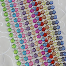 Wholesale Crystal Round Faceted Wedding Beaded Curtain