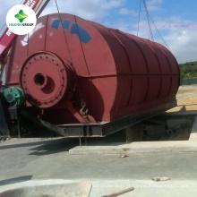 Equipamento usado contínuo da reciclagem de borracha Máquina contínua do desperdício da sucata Máquina pneumática da pirólise do pneu da pirólise
