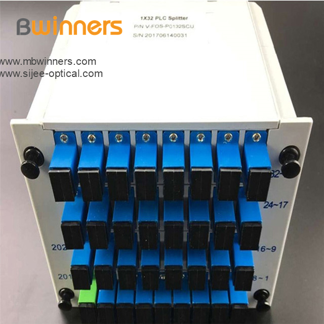 Insertion Module 1x32 Plc Splitter With Sc Upc Connector