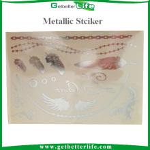 Popular Best Sale Metallic Gold Tattoo Sticker for Body Decoration