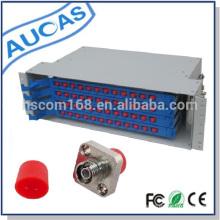 Caja de la terminación del cable de fibra óptica de la fábrica para la trama LC-SC-FC-ST marco de la distribución de la fibra óptica del odf