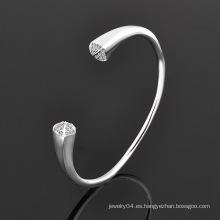 Joyería cristal joyas de moda acero inoxidable brazalete (br381)