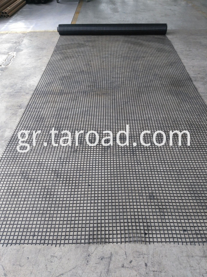 PET Uniaxial Geogrid Coated With PVC