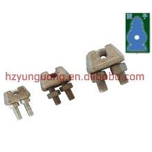 Stahldrahtklammer / Abspanndrahtseilklammer / Pfostenlinie Energieanpassungsdrahtseilanpassungskabelseil-Verbindungsfestklammer