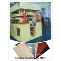 Double sided calibrating sanding machine for HPL