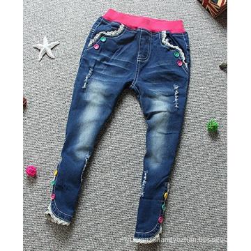 Waistband Denim Blended Children Pants Comfortable Jeans