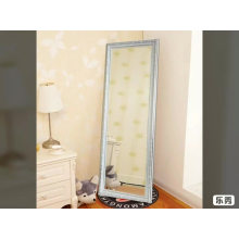 Hotel long silver mirror floor dressing mirror